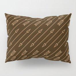 Arrows Flying (Dark Brown) Pillow Sham