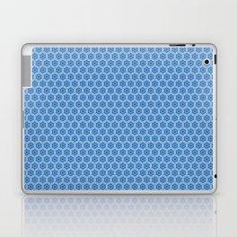 Chinoiseries Hexagone Flowers Blue Laptop & iPad Skin