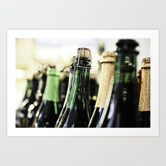 Bottles of the bubbly Art Print