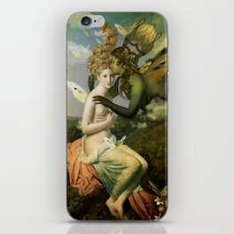 """""""The body, the soul and the garden of love"""" iPhone Skin"""
