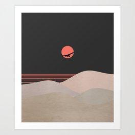 Minimal Sunset 14 Art Print