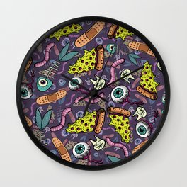 Eyeballs & Pizza Wall Clock