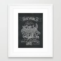discworld Framed Art Prints featuring DISCWORLD by Sofia Verger