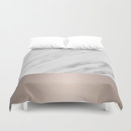 Carrara Italian Marble Holiday White Gold Edition Duvet Cover