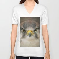 falcon V-neck T-shirts featuring Falcon by Pauline Fowler ( Polly470 )