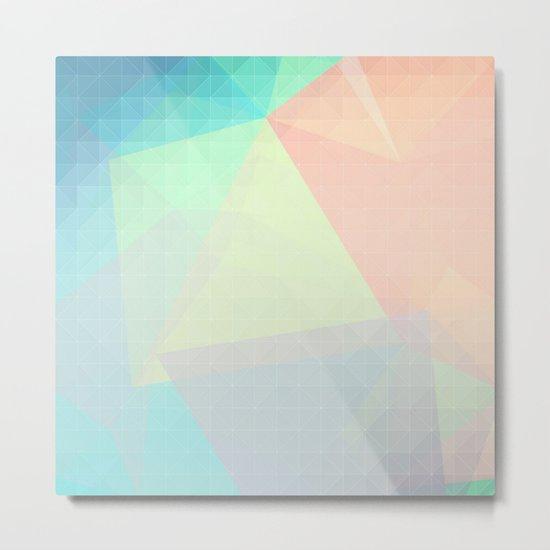 Pastel Candy Geometry Metal Print