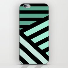 STRIPED {MINT} iPhone & iPod Skin