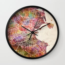 Dublin map Wall Clock