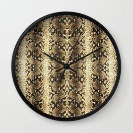 Snake Skin Tan Wall Clock
