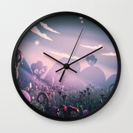 Plasticine World Wall Clock