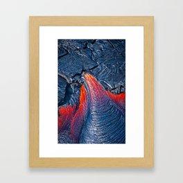 Kilauea Volcano Lava Flow. 3 Framed Art Print
