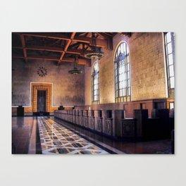 Los Angeles Union Station. Historic Ticket Counter. © J&S Montague. Canvas Print