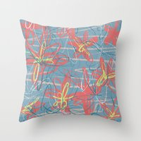 patrick Throw Pillows featuring Patrick by hoopderscotch