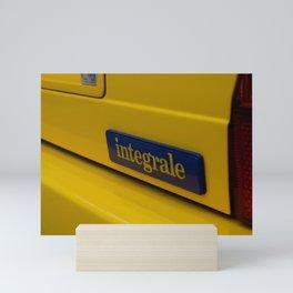 Delta Integrale Italian sport hatchback  Mini Art Print