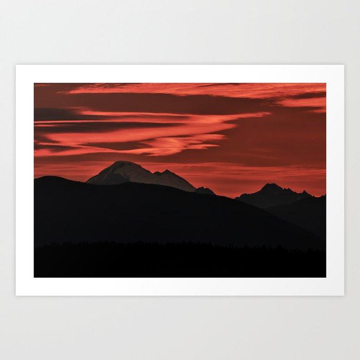 Mt Baker Sunrise Art Print