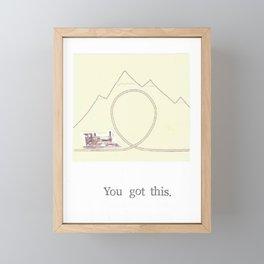 You Got This Framed Mini Art Print