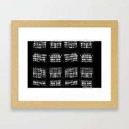 CAYCEE BLACK BLACK AND WHITE PLAID Framed Art Print