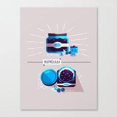 :::Sweet blueberry marmalade::: Canvas Print