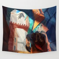 dragons Wall Tapestries featuring Dragons by youcoucou