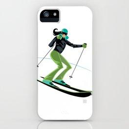 Ski Girl Turns iPhone Case