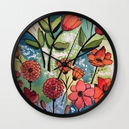 Floral Rhythm Wall Clock