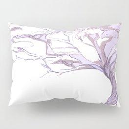Quiet Acacia Zen Tree , Earthy African Bonsai Peace Lavendar Purple Pillow Sham