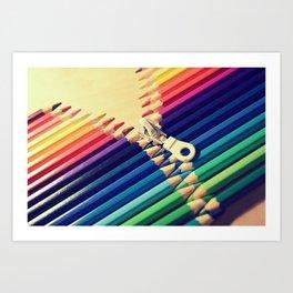 Crayon Zip Art Print