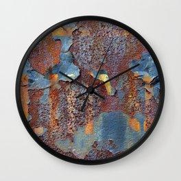Colors of Rust, ROSTart blue Wall Clock