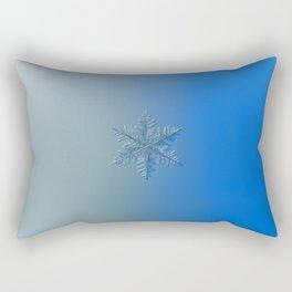 Real snowflake macro photo: Winter1 Rectangular Pillow