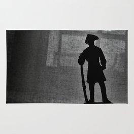 A Man Guarding (Silhouette) Rug