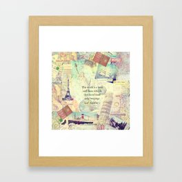 The world is a book TRAVEL QUOTE Framed Art Print