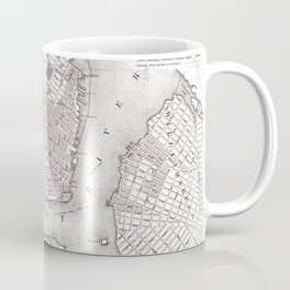 Vintage New York City Map Coffee Mug