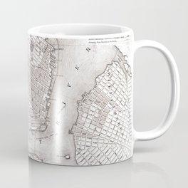 Vintage New York City Map Coffee Mug