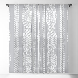 Cable Grey Sheer Curtain