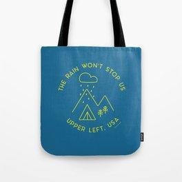 The Rain Won't Stop Us - Blue/Lime Tote Bag