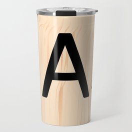 Letter A Scrabble Art Travel Mug