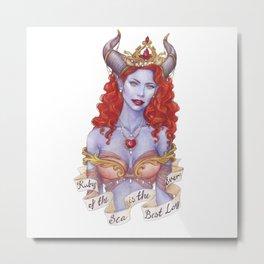 Ruby of the Sea Metal Print