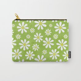 DAISIES ON APPLE GREEN Carry-All Pouch