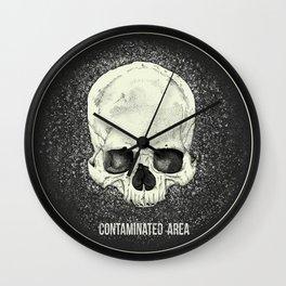 Contaminated Area Wall Clock