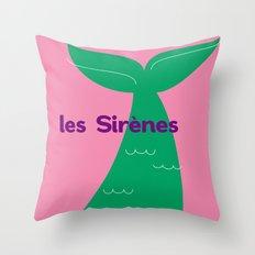 Les Sirènes Throw Pillow