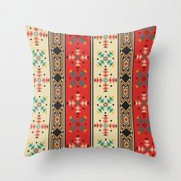 Navajo style pattern Throw Pillow