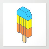 popsicle Canvas Prints featuring Popsicle by Haitham Almayman