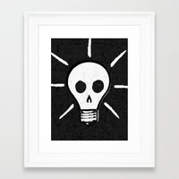 bad idea Framed Art Prints featuring Bad Idea by ScottLaserowPosters