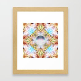 Distortion divded by Zero Framed Art Print