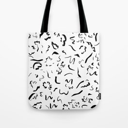 Freely Scribbled - Black & White Tote Bag