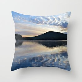 Rippling Reflections: September Sunrise on Lake George Throw Pillow