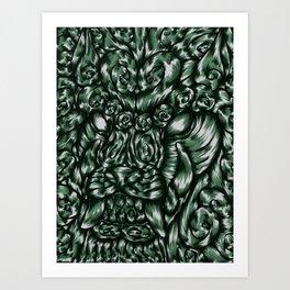 Chinese Jade Lion Art Print