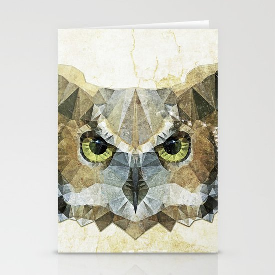abstract owl Stationery Cards