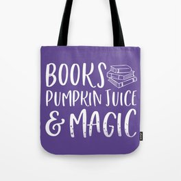 Books & Magic (Purple) Tote Bag