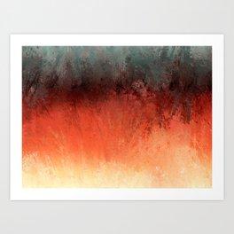 Bushfire Outback Art Print